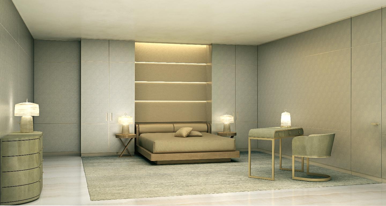 Master Bedroom at Armani Casa Residences in Sunny Isles Beach, FL