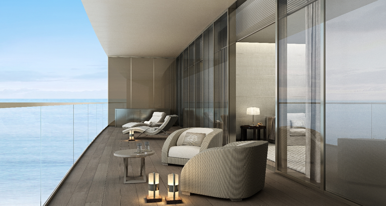 Armani Casa Residences-Oceanfront spacious balcony